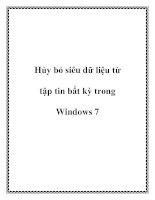 Hủy bỏ siêu dữ liệu từ tập tin bất kỳ trong Windows 7 docx