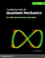 Fundamentals of quantum mechanics for solid state electronics, optics   c  tang