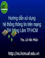 Hướng dẫn sử dụng hệ thống thông tin trên mạng ĐH Nông Lâm TP HCM pptx