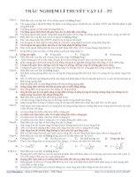 TRẮC NGHIỆM LÍ THUYẾT VẬT LÍ – P2 pdf
