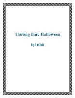 Thưởng thức Halloween tại nhà ppt