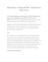Phần mềm đọc và chỉnh sửa file PDF – Xchange Viewer (PDF to Word) docx