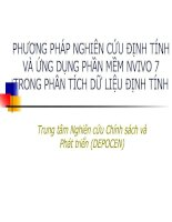 Bai giang 1 - Gioi thieu phuong phap nghien cuu dinh tinh NVIVO 7 docx