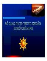 Sở giao dịch chứng khoán TP.Hồ Chí Minh pdf