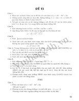 Tuyển Tập 45 Đề Ôn Thi Đại Học Toán 2013 - Đề 10 docx
