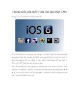 Những điều cần biết trước khi cập nhật iOS6. ppt