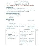Giáo án số 5 - Bài 2: NHIỆM VỤ CỦA CÁC CHỨC DANH TRONG NHÀ HÀNG potx