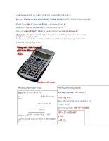 Hướng dẫn giải nhanh vật lý với máy tính Fx 570 ES