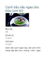 Canh bầu nấu ngao cho bữa cơm 8/3 pot