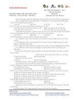 Đề thi thử ĐH năm 2013 môn Sinh có đáp án đề số 3 docx