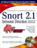 snort 2.1 intrusion detection, 2nd ed.