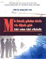MÔ HÌNH PHÂN TÍCH VÀ ĐỊNH GIÁ TÀI SẢN TÀI CHÍNH tập 2 potx