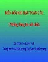 BIẾN ĐỔI KHÍ HẬU TOÀN CẦU - GS.TSKH Nguyễn Đức Ngữ - Trung tâm KHCN Khí tượng Thủy văn và Môi trường pptx