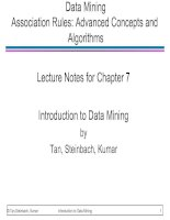 Data Mining Association Rules: Advanced Concepts and Algorithms Lecture Notes for Chapter 7 Introduction to Data Mining docx