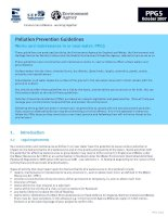 Pollution Prevention Guidelines Works and maintenance in or near water: PPG5 ppt