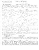 Đề Thi Thử Đại Học Khối A, B Hóa Học 2013 - Phần 13 - Đề 12 pot