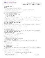 Tóm tăt lý thuyết hoá học 11Chương II :NITƠ – PHOT PHO docx