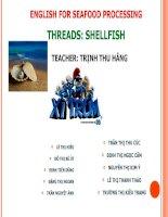 Bài thuyết trình: ENGLISH FOR SEAFOOD PROCESSING - THREADS: SHELLFISH pdf