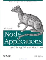 Building Node Applications with MongoDB and Backbone doc