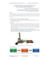 LẬP TRÌNH ROBOT TỰ ĐỘNG ĐƠN GIẢN VỚI VI ĐIỀU KHIỂN PIC16F877A docx