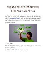 Mẹo giúp bạn học giỏi ngữ pháp tiếng Anh thật đơn giản potx