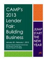 CAMP''''s 2013 Lender Fair: Building Business pdf
