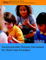 COMMUNICABLE DISEASE CURRICULUM FOR CHILD CARE PROVIDERS ppt