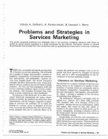 PROBLEMS AND STRATEGIES IN SERVICES MARKETING potx