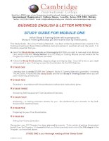 BUSINESS ENGLISH & LETTER WRITING STUDY GUIDE FOR MODULE ONE pptx