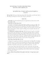 ĐỀ KIỂM TRA 15 PHÚT MÔN LỊCH SỬ KHỐI 10 (Lần 02) TRƯỜNG THPT KRÔNG NÔ potx