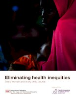 Eliminating health inequities Every woman and every child counts pot