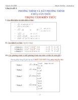 Bài tập phương trình và bất phương trình căn thức