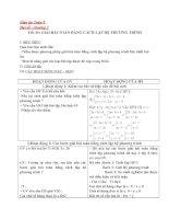 giải bài toán bằng cách lập hệ phương trình - giáo án toán 9