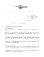 Guidelines for Writing a Master's Thesis pptx