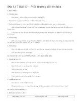 Địa Lí 7 Bài 13 – Môi trường đới ôn hòa