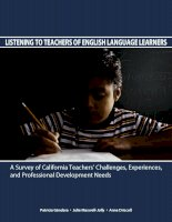 LISTENING TO TEACHERS OF ENGLISH LANGUAGE LEARNERS potx
