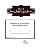 overview of process plant - piping system design
