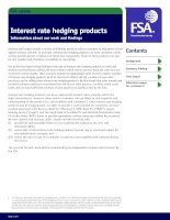 Interest rate hedging products - Information about our work and findings pot