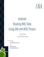 Android chapter18a reading XML data Using SAX and W3C Parsers