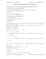 Chuyên đề 1 - LTĐH Toán Phần khảo sát hàm số - biên soạn theo chương trình chuẩn