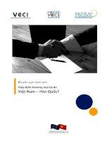 Hiệp định thương mại tự do Việt Nam – Hàn Quốc? pot