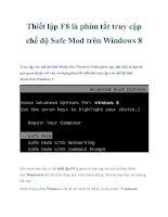 Thiết lập F8 là phím tắt truy cập chế độ Safe Mod trên Windows 8 potx