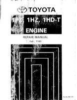 TOYOTA 1HZ 1HD t 1990 REPAIR MANUAL HƯỚNG dẫn sửa CHỮA ĐỘNG cơ 1HZ 1HD t TOYOTA