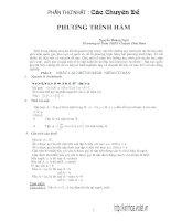 Một số chuyên đề bồi dưỡng HSG môn toán