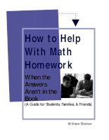 How to Help With Math Homework - When the Answers Aren't in the Book (A Guide for Students, Families, & Friends) pot