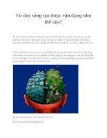 Tư duy sáng tạo được vận dụng như thế nào? pptx