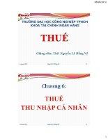 Bài giảng Thuế-Chương 6: THUẾ THU NHẬP CÁ NHÂN pdf