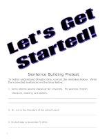 Sentence Building Pretest doc