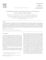 hydrothermal synthesis and characterization of - feooh and  fe2o3 uniform nanocrystallines
