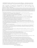 Đề kiểm tra môn sinh học quốc tế - Ngôn ngữ tiếng anh ( Đề 6 )